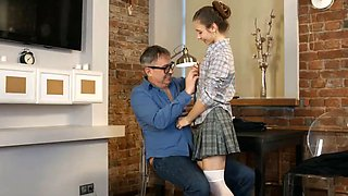 schoolgirl fucks her senior teacher