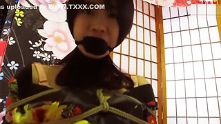 Yong chinese duo yukata rope bondage (柏芝陆公主的双人坐缚