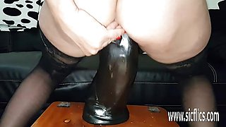 Colossal dido fucking for amateur wifes pussyhole