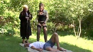 Outdoor Hardcore Pissing Threesome