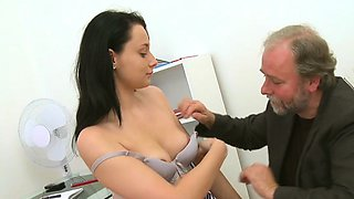 Sweetheart is giving mature teacher a oral pleasure session