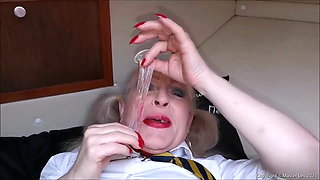 Joy the school slut in uniform is fucked and enjoys the cum