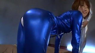 Horny Japanese chick Mio Oichi in Hottest Threesome, Latex JAV clip
