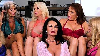 A group of big-breasted mature bimbos