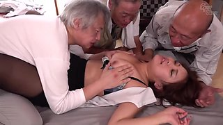 Gvg-982 Busty Widow Gangbanged By Old Workers And Turns Into A Sex Slave Airi Takasaka - Takasaka Airi