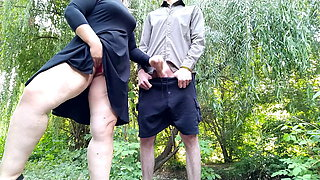 I was masturbating and a stranger helped me cum outdoors