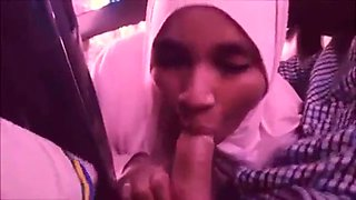 Neha amateur indian muslim blows boss in car 3