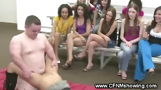 CFNM party goer gets to fuck the midget