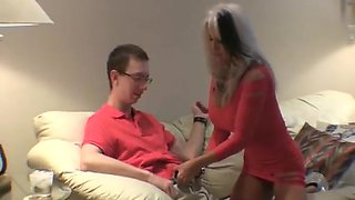 Old slut let young virgin guy creampies her thirsty cunt
