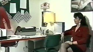 Cute pale skin German milf giving nice head in the office
