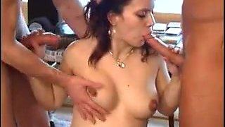 Threesome preggy sex