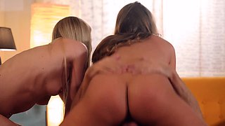LOS CONSOLADORES - Hot Spanish threesome with russian blonde
